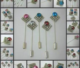 Diamond Shape Rhinestone Hat, Scarf and Hijab Pins in a Beautiful Range of Colours
